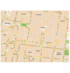 Historic center of mexico city street map vector