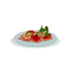 Indian cuisine food dish on a vector