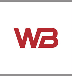 initial letter wb logo vector image