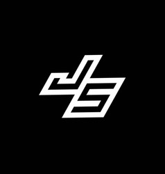 Js logo monogram with up to down style negative vector