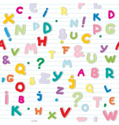letters pattern vector image