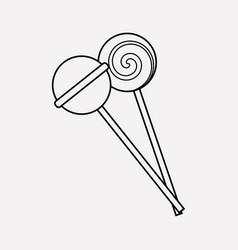 lollipop icon line element of vector image