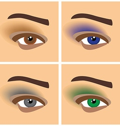 Makeup eyes vector
