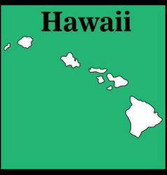 Map hawaii us state vector