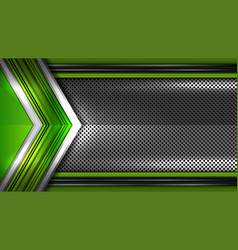 Metal green background vector