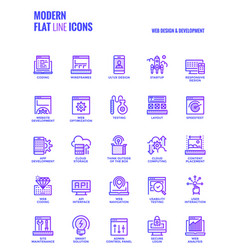 modern flat line icons design-web design and vector image