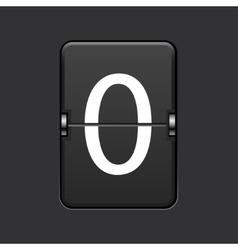 Modern numeric scoreboard vector