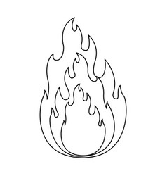 monochrome silhouette of flame in closeup vector image