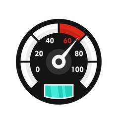 Motor bike speedometer icon flat style vector