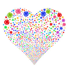 network fireworks heart vector image
