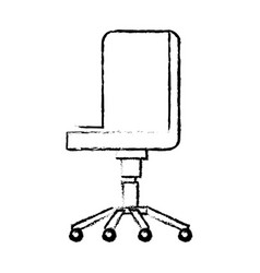 Office chair comfort wheel elegant equipment vector