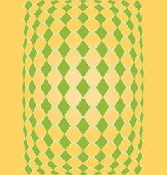 orange and green rhombus texture vector image