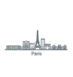 Outline Paris banner vector