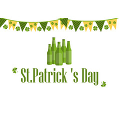 patricks day festive background with garland vector image