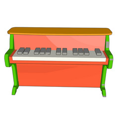 red piano toy on white background on white vector image