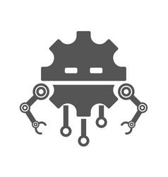 Robot head line icon sign pictograph vector