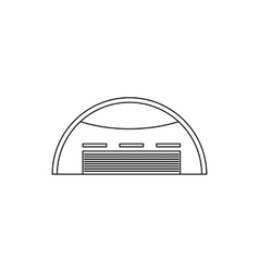 Round barn icon outline style vector image