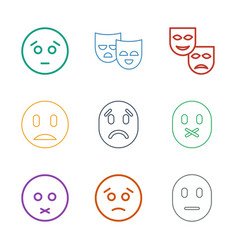 sadness icons vector image
