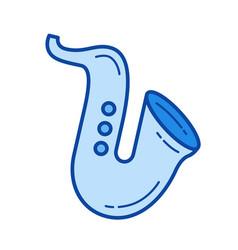 Saxophone line icon vector