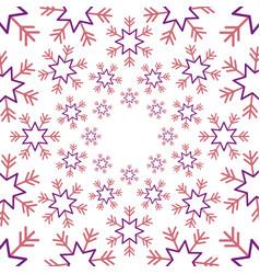 seamless christmas snowflake winter season vector image