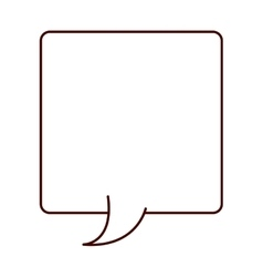 Silhouette rectangle callout for dialogue vector