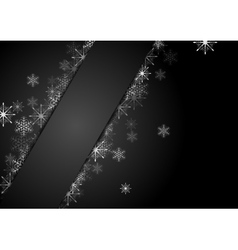 Silver grey snowflakes Christmas corporate vector