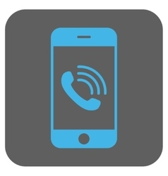 Smartphone Call Rounded Square Icon vector image