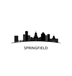 Springfield city skyline black cityscape vector