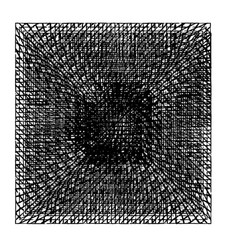 Square isolated grunge vector