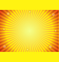 sun ray background in yellow and orange colors vector image