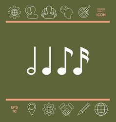 symbol of music notes sixteenth note eighth vector image