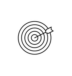 target keyword line icon vector image