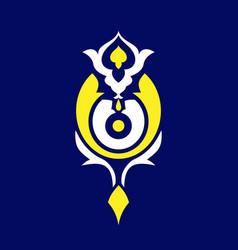Traditional islamic design ottoman background vector