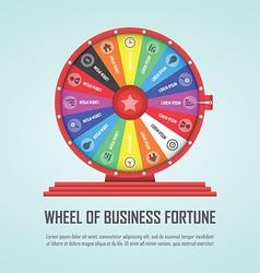 Wheel fortune infographic design element vector