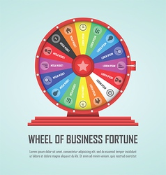 Wheel of fortune infographic design element vector image