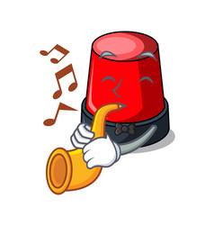With trumpet sirine mascot cartoon style vector