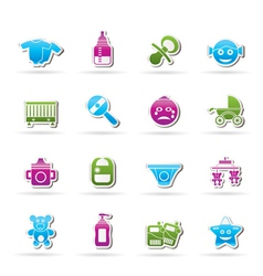 baby and toys icons vector image