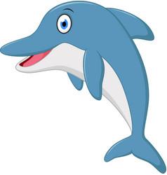 cute dolphin cartoon jumping vector image