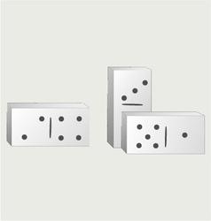 Dominoes vector image
