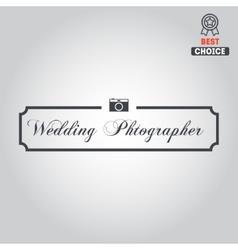Logo badge emblem or label for photograph vector image vector image