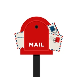 Mailbox letter flat design icon vector image