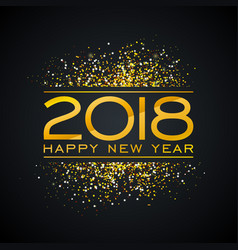 2018 happy new year background with vector image