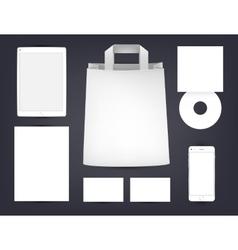 branding advertising mock up Identity vector image