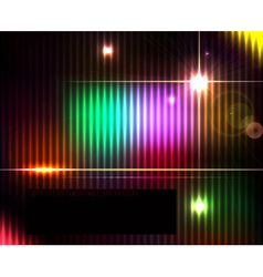 Dark abstract shiny technology spectrum background vector image vector image