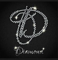 Diamonds on black denim vector