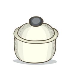 digital painting doodle pot vector image vector image