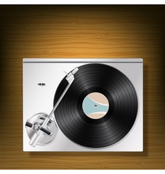 vynil player vector image