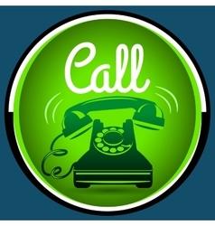 Call button retro phone vector image