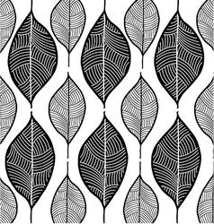 leaf sketch doodle set 1 white vector image
