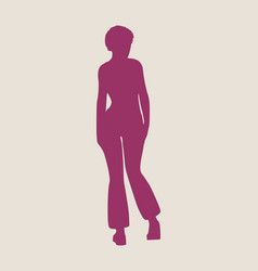 sexy women silhouette vector image vector image